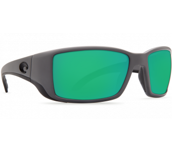 Costa Blackfin Green Mirror 580P, Matte Gray Frame