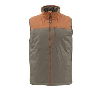 Simms Midstream Insulated Vest, Saddle Brown