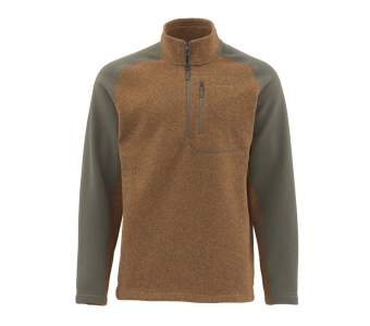 Simms Rivershed Sweater, Saddle Brown
