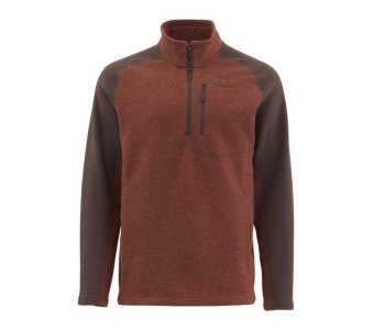 Simms Rivershed Sweater, Rusty Red