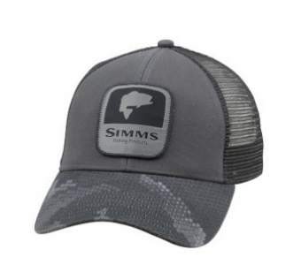 Simms Bass Patch Trucker, Hex Camo Carbon