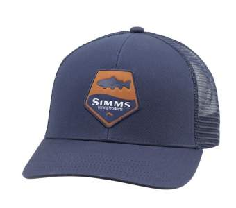 Simms Trout Patch Trucker, Admiral Blue