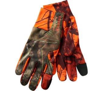 Harkila Moose Hunter Gloves, MossyOak®Break-Up Country®-OrangeBlaze