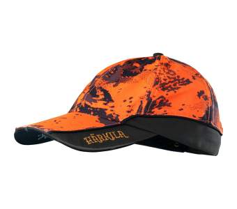 Harkila Lynx Safety Light Cap, AXIS MSP® Orange Blaze-Shadow Brown
