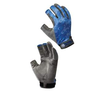 Buff Fighting & Work Gloves, M-L, Skoolin Azul