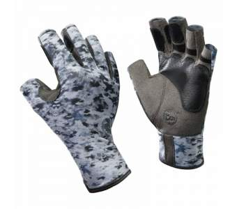 Buff Angler Gloves, L-XL, Fish Camo