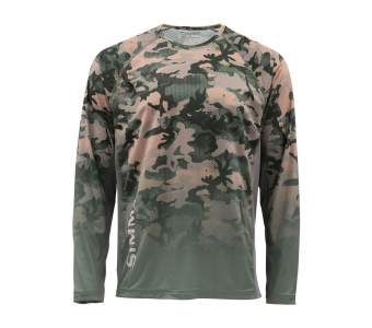 Simms Challenger Solar Tech Jersey, Hex Flo Camo Timber