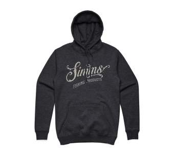 Simms Lager Script Hoody, Charcoal Heather