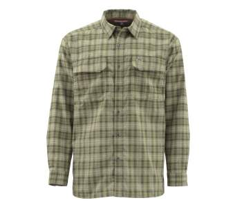 Simms Coldweather LS Shirt, Covert Plaid