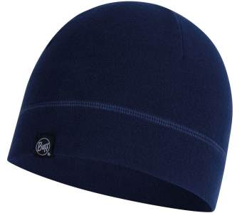 Buff Polar Hat, Solid Night Blue