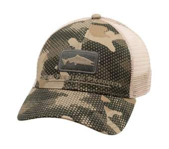 Simms Salmon Icon Trucker, Hex Flo Camo Timber
