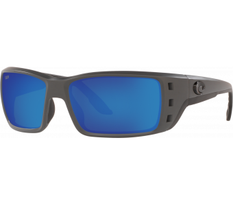 Costa Permit, Blue Mirror 580P, Matte Gray Frame