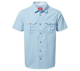 Craghoppers NosiLife Adventure 2 SS Shirt, Blue Harbour