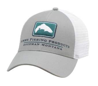 Simms Trout Icon Trucker Cap, Granite