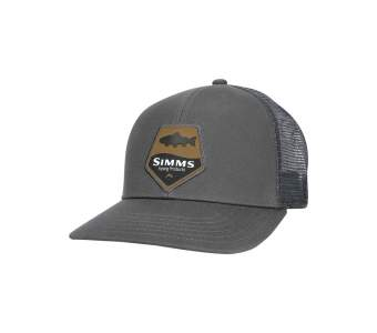 Simms Trout Patch Trucker, Carbon