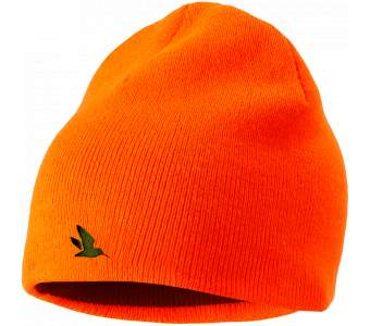 Seeland Ian Reversible Beanie, Hi-vis orange/Pine green