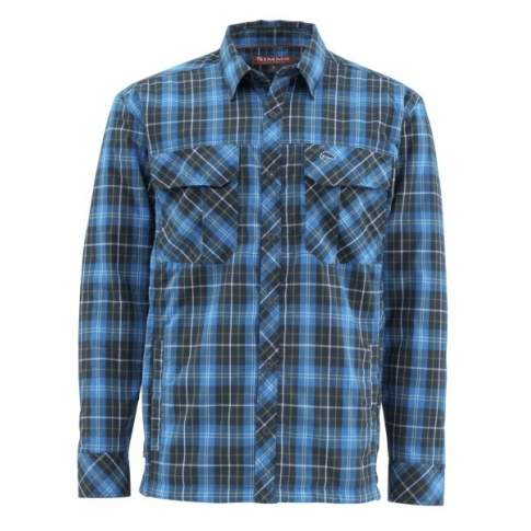 Simms Guide Insulated Shaket, Admiral Blue Plaid