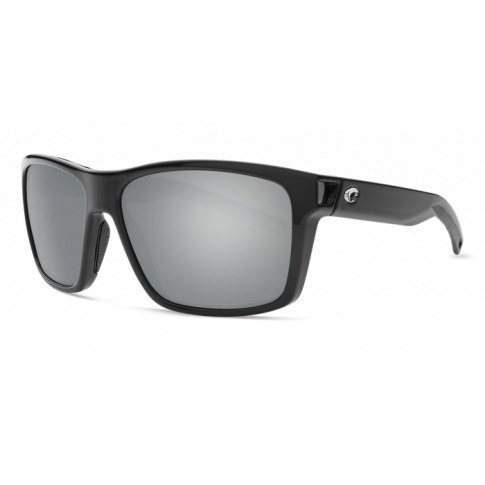 Очки Costa Slack Tide, Gray Silver Mirror 580P, Shiny Black Frame