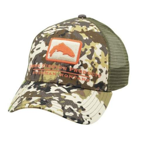 Simms Trout Icon Trucker, River Camo