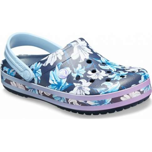 CROCS Crocband Graphic III Clog Tropical Floral-Navy