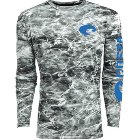Costa TECHNICAL MOSSY OAK ELEMENTS LS SHIRT, Camo Gray