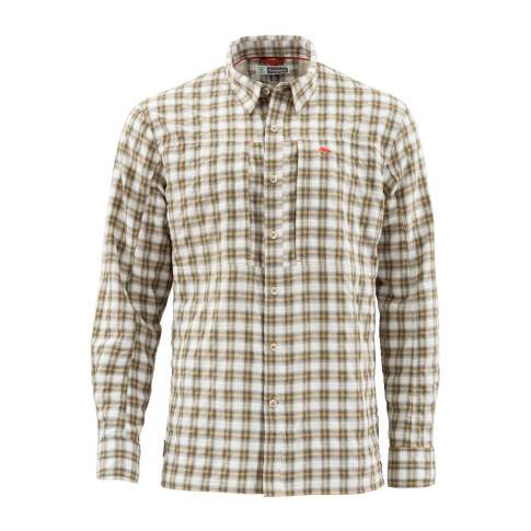 Simms BugStopper LS Shirt, Plaid Cork Plaid