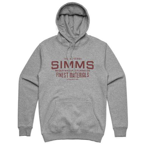 Simms Wader Mfg Hoody, Gunmetal Heather