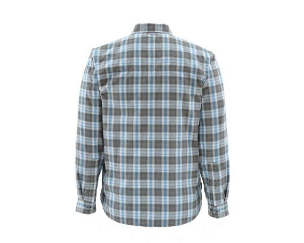 Рубашка Simms Coldweather LS Shirt, Tidal Blue Plaid