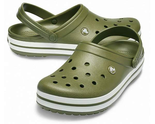 Сабо CROCS Crocband Army Green-White