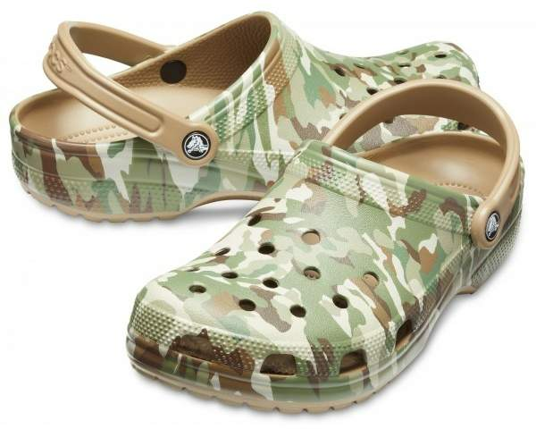 Сабо CROCS Classic Graphic II Clog Dark Camo Green-Khaki