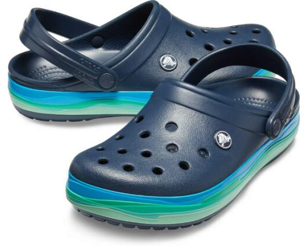 Сабо CROCS Crocband Wavy Band Clog Navy-Multi